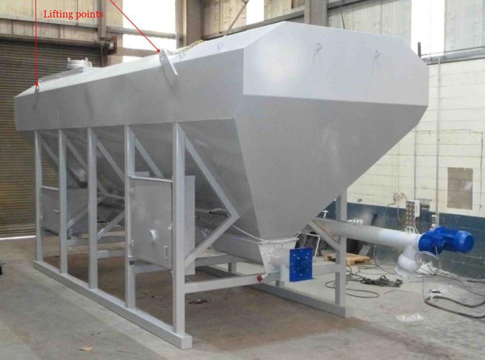 Cement Storage Silo Horizontal Low Levelconcrete